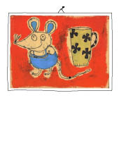 Maus mit Tasse, Mixed Media